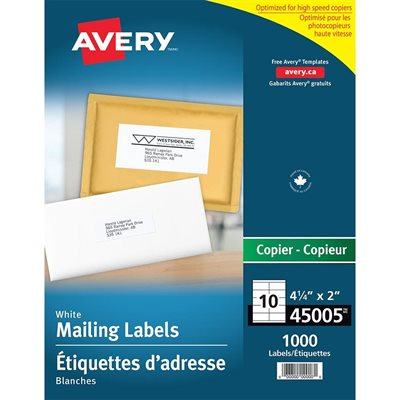 White Mailing Labels for Copier