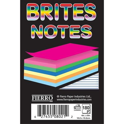 Brites Notes Colour Notepad