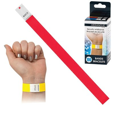 WRISTBANDS SECURITY RED
