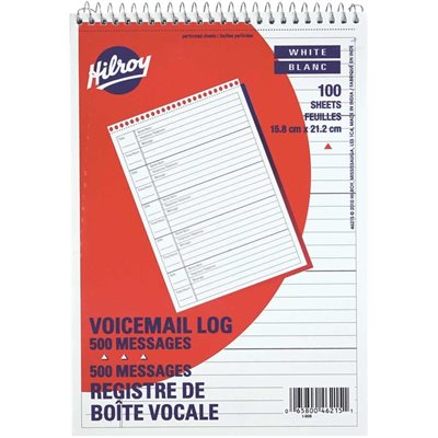 Voicemail log book